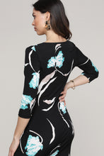 Load image into Gallery viewer, Floral Ruffled Surplice Dress