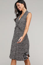 Load image into Gallery viewer, Leopard Twist Front Sleeveless Collared Dress