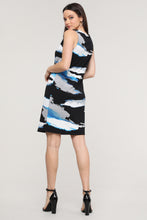Load image into Gallery viewer, Sleeveless Black & Blue Abstract Dress