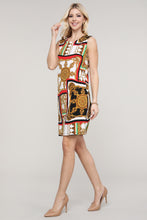 Load image into Gallery viewer, Red and Ivory Abstract Sleeveless Dress