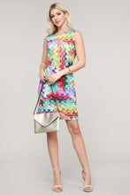 Load image into Gallery viewer, Multicolor Block Print Sleeveless Dress