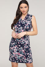 Load image into Gallery viewer, Floral Sleeveless V-Neck Dress