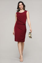 Load image into Gallery viewer, Crimson Sleeveless Side Ruched Dress