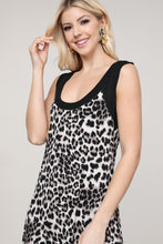 Load image into Gallery viewer, Leopard Print Reversible Sleeveless Dress