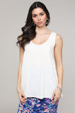 Load image into Gallery viewer, Ivory Swing Tank Top