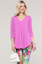 Load image into Gallery viewer, Lavender V-Neck Tunic Top
