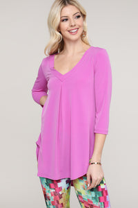 Lavender V-Neck Tunic Top