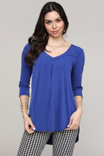 Load image into Gallery viewer, Royal Blue V-Neck Tunic Top