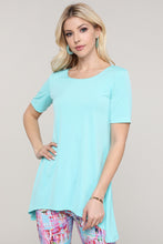 Load image into Gallery viewer, Aqua Asymmetrical Tunic