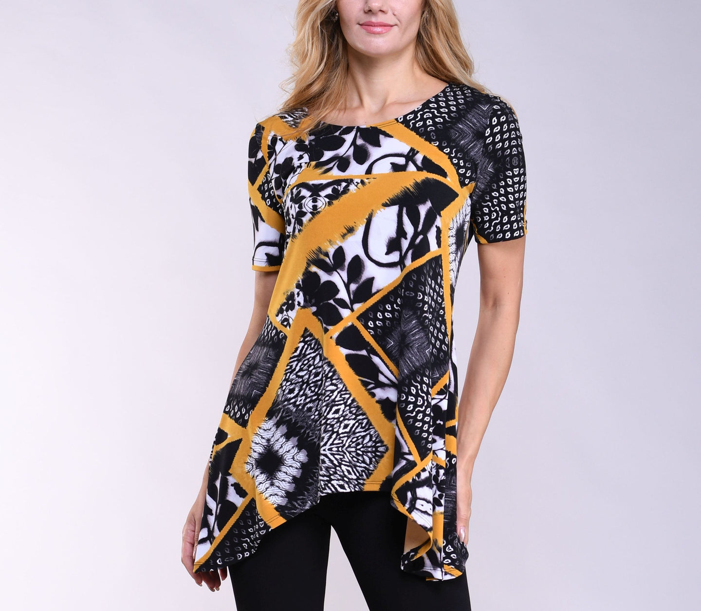 Abstract Sidetail Tunic