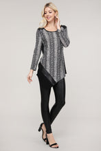 Load image into Gallery viewer, Snake Print Asymmetrical Tunic