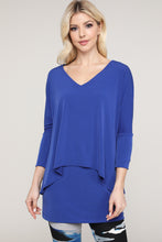 Load image into Gallery viewer, Royal Blue V-Neck Layered Tunic