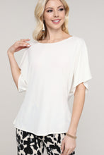 Load image into Gallery viewer, Ivory Short Bat Sleeve Top