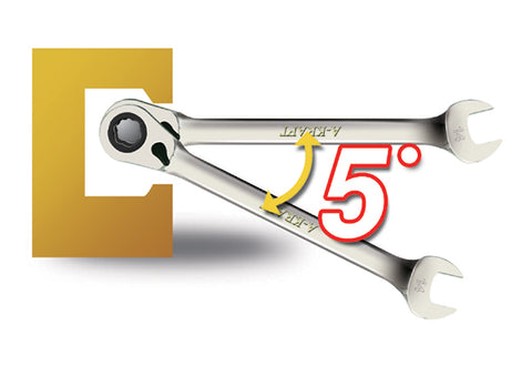 5 degreee swing angle wave ratcheting wrench