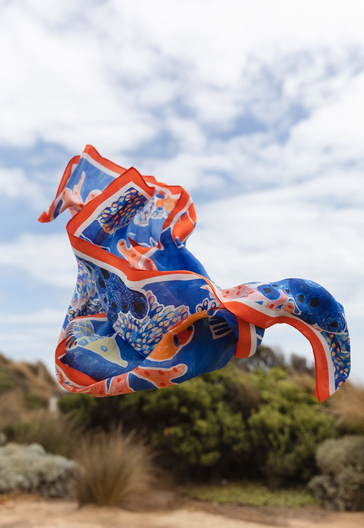 Silk Square Scarf - Reef