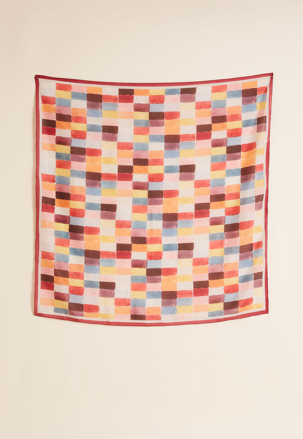 Silk Square Scarf - Domino