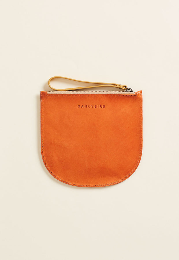 Appliqué Clutch - Orange