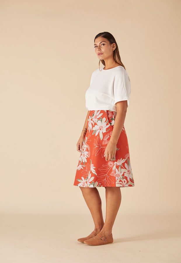 Newtown Skirt - Rust Floral