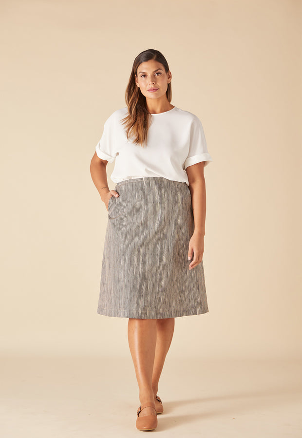 Newtown Skirt - Ink Stripe