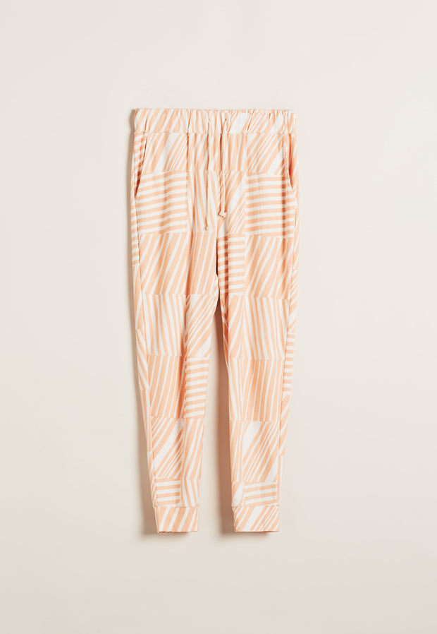 Relaxed Lounge Pant - Tile Stripe Pink