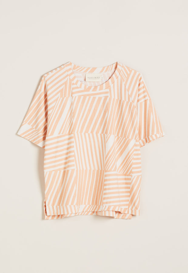 Lounge Tee - Tile Stripe Pink