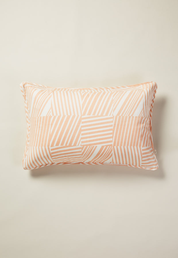 Pillowcase - Tile Stripe Pink