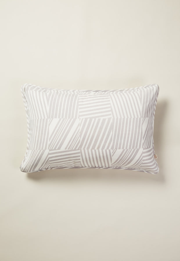 Pillowcase - Tile Stripe Grey