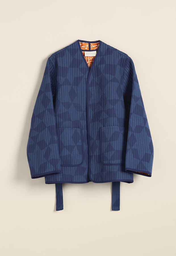 Quilted Jacket - Denim Medina