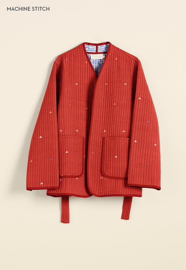 Quilted Jacket - Red Peaks