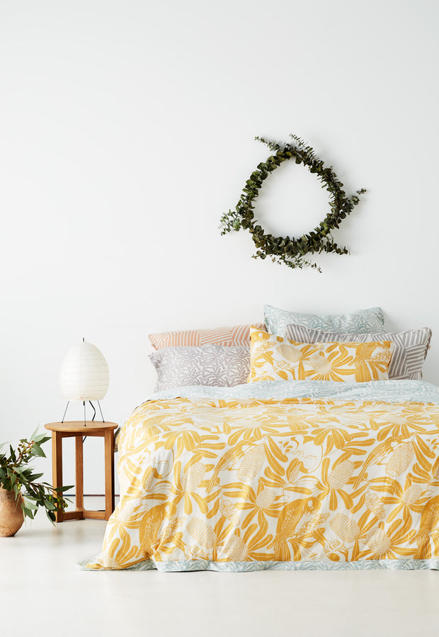 Quilt Cover - Banksia Gold