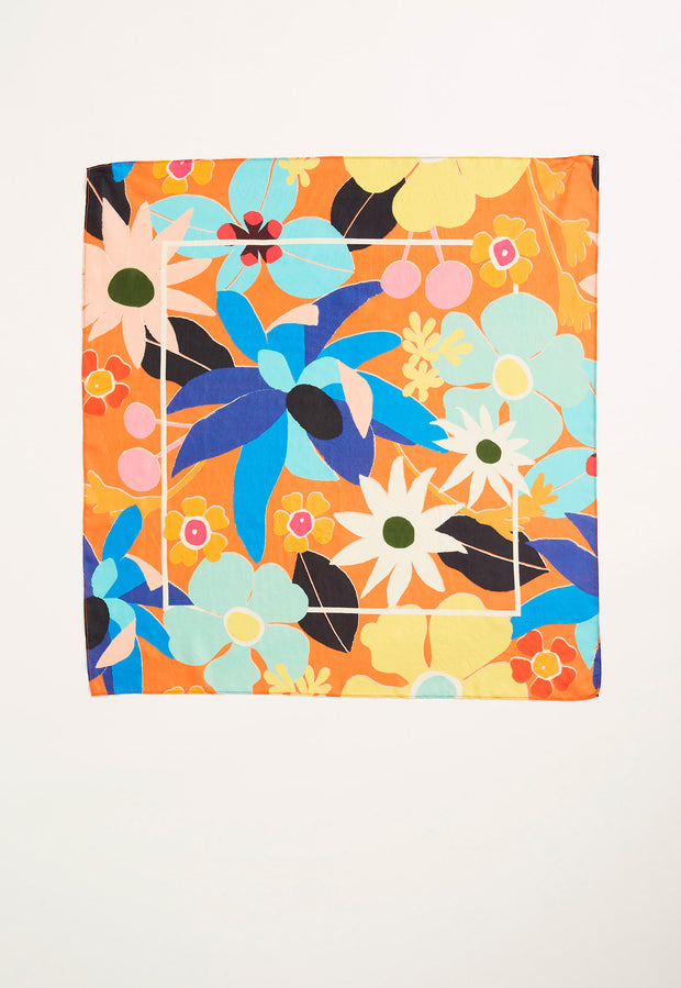 Silk Scarf - Summertime Floral