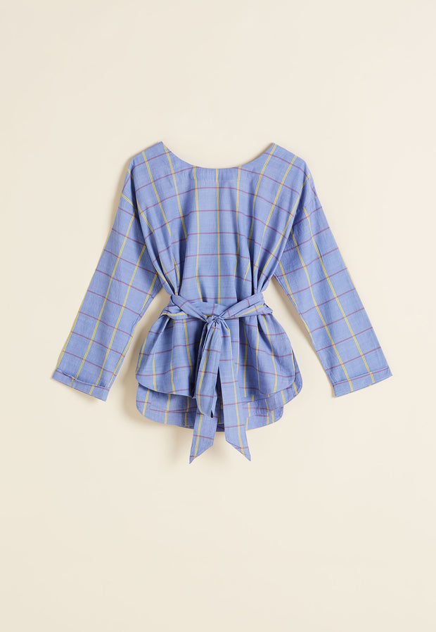 Alexandra Top - Denim Check