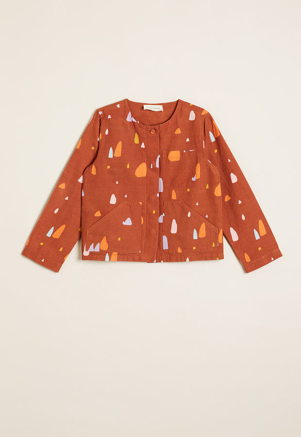 Pocket Cropped Jacket - Pinnacles