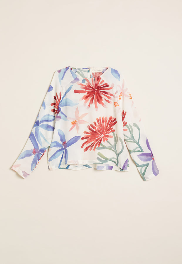 Spinifex Raglan Top - Fairy Orchid