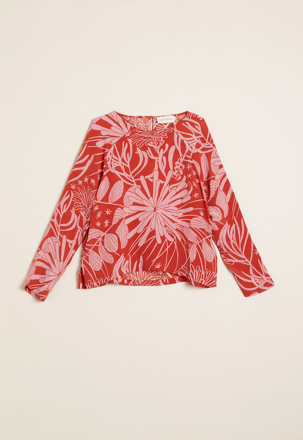 Spinifex Raglan Top - Bright Pixie Mops