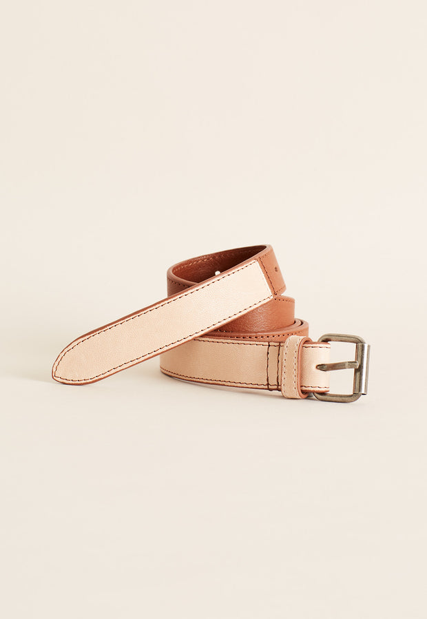 Leather Belt - Almond
