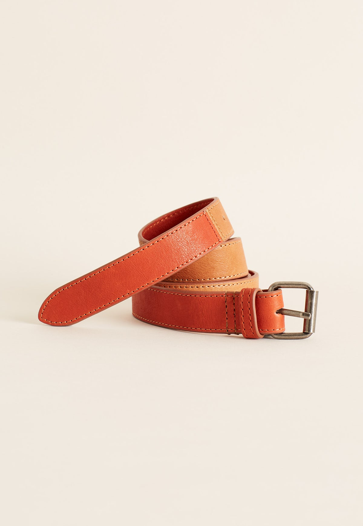 Leather Belt - Russet Red