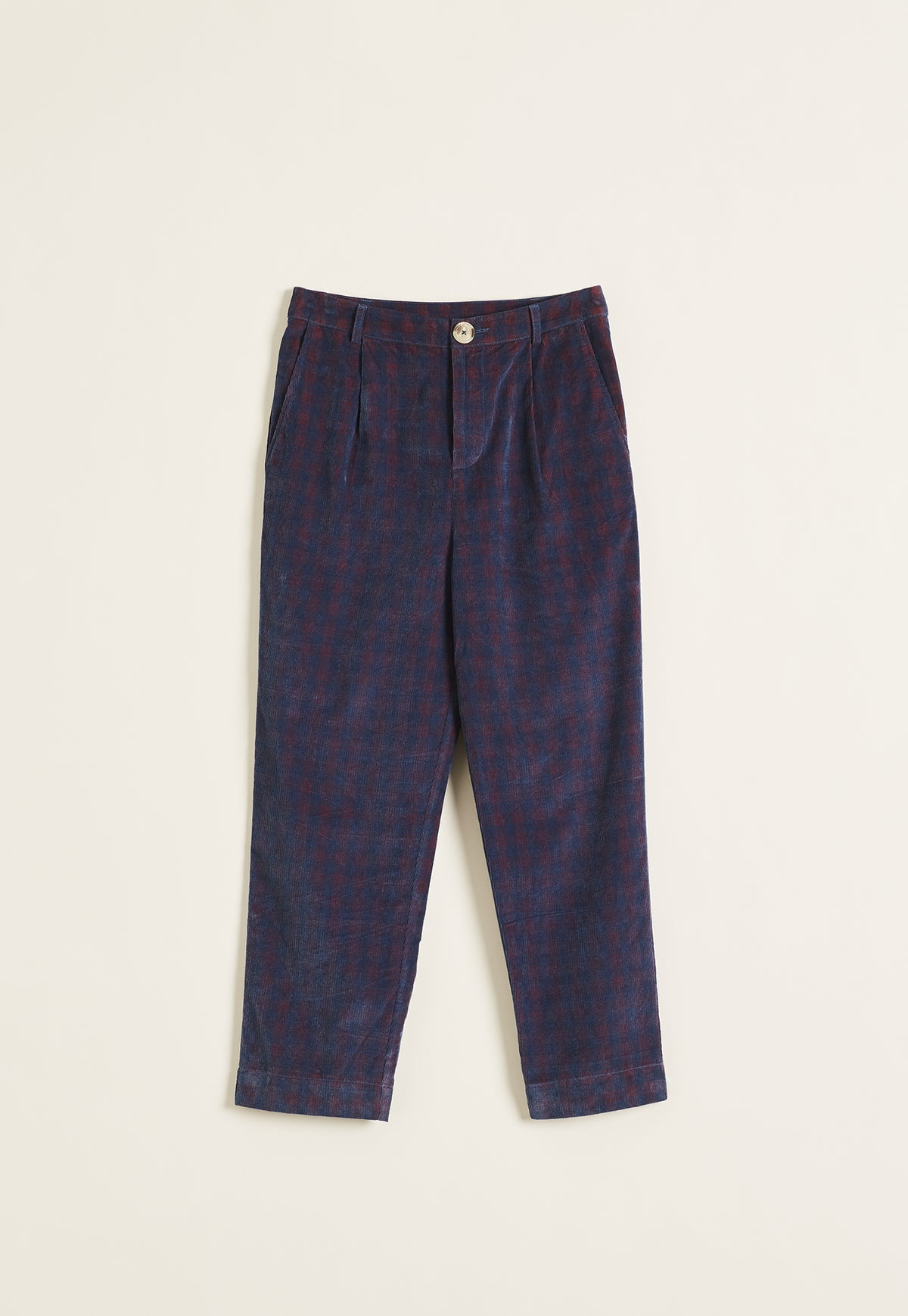 Stirling Pant - Red Corduroy Check