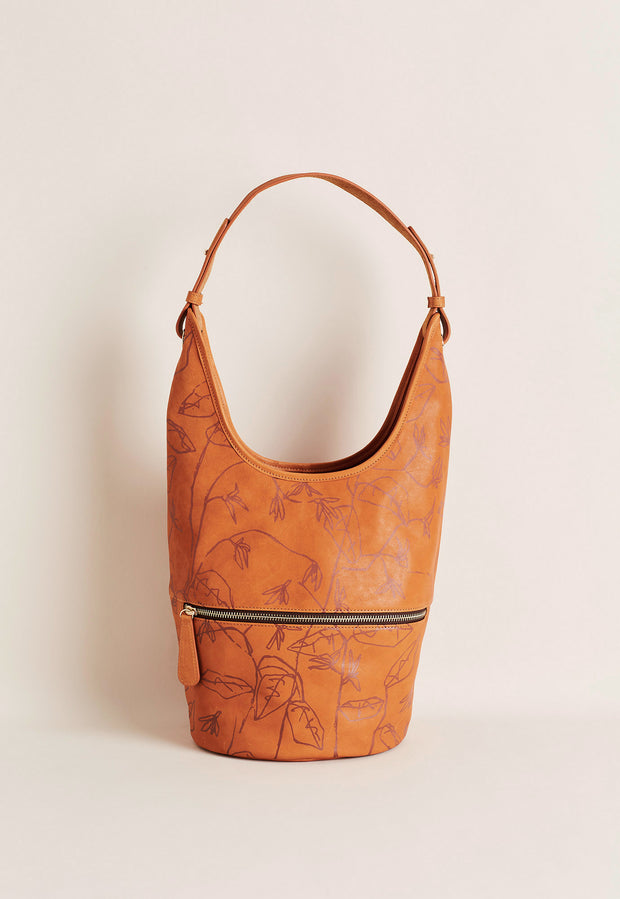 Shana Bucket Bag - Ochre Print