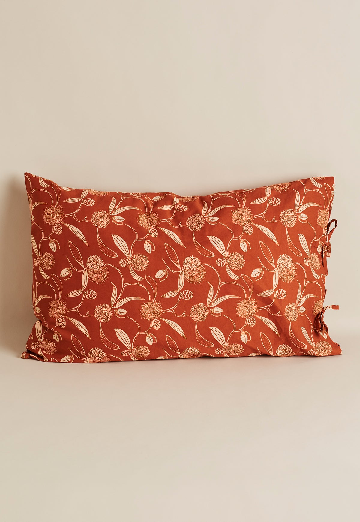 Pillow Case - Hakea Floral Ochre