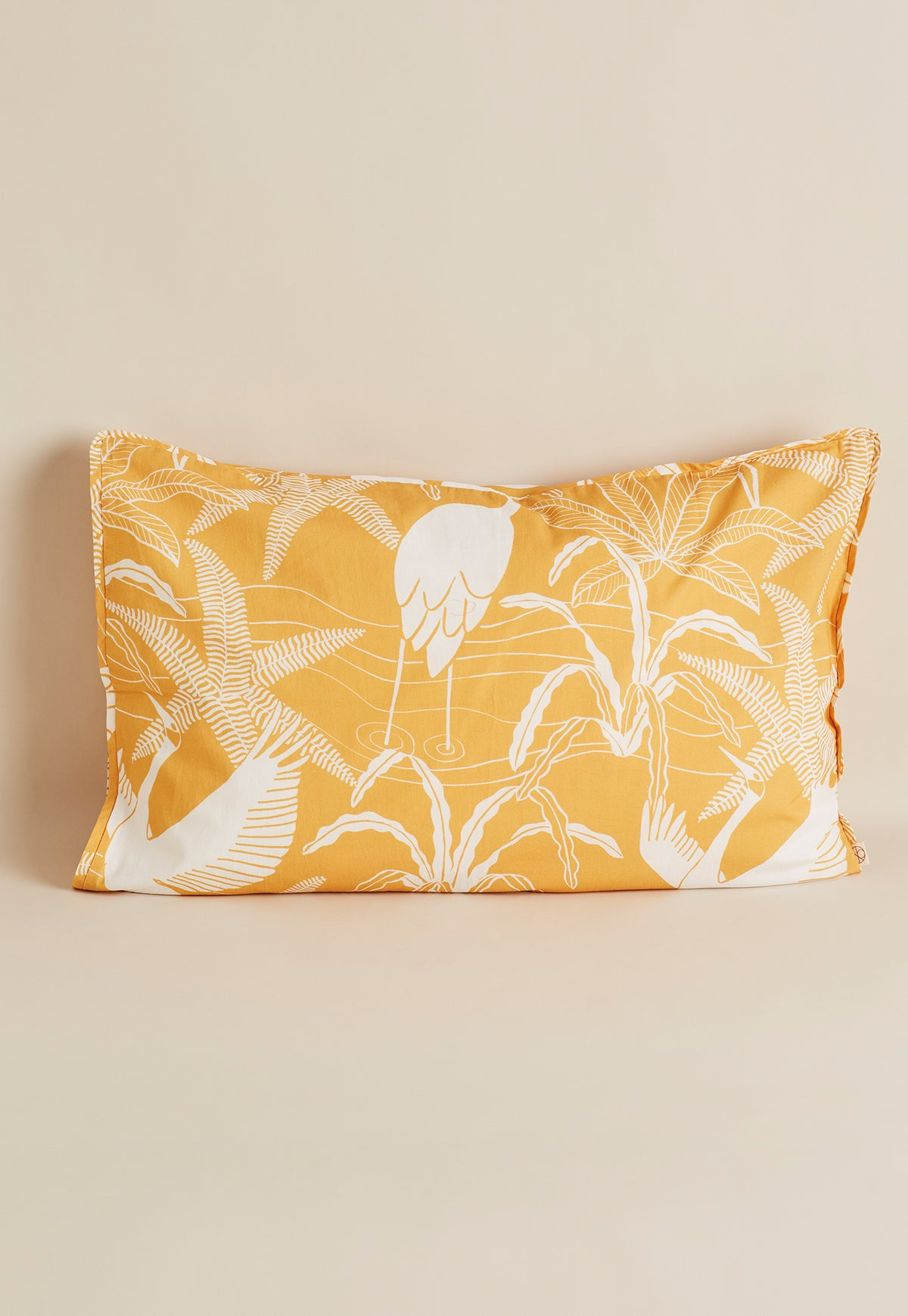 Pillow Case - Brolgas Yellow