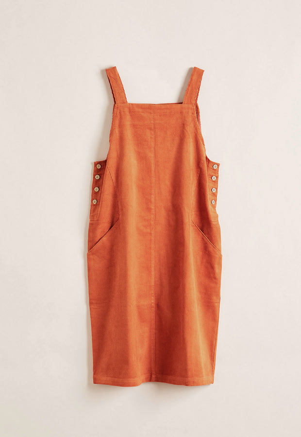 Laelia Pinafore - Burnt Orange