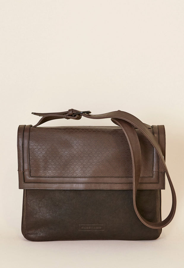 Border Cross Body - Dark Chocolate
