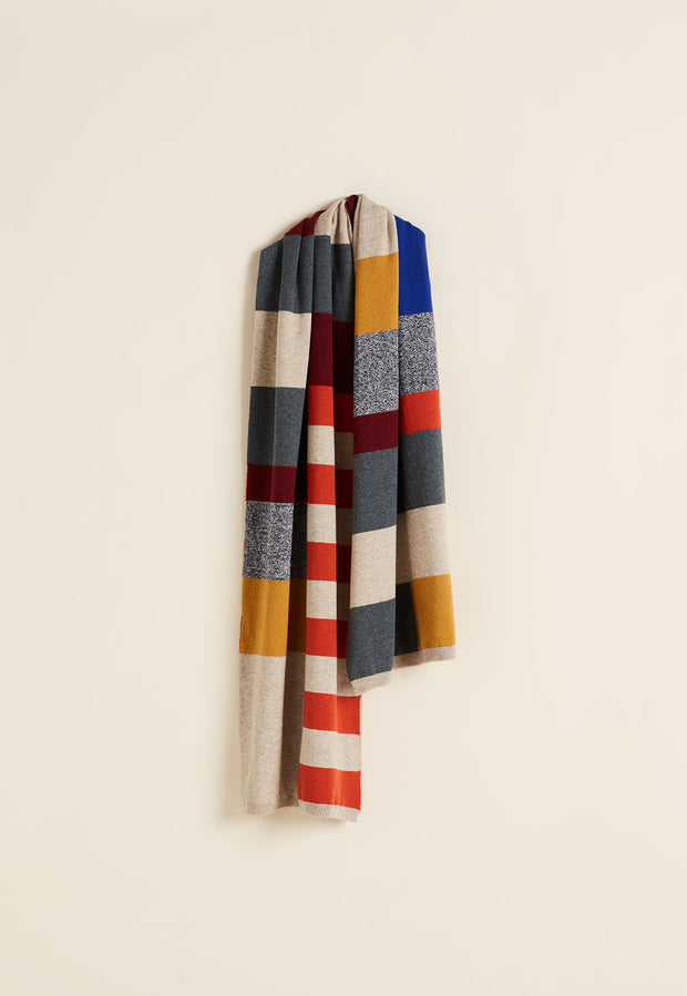 Colour Block Scarf - Multi