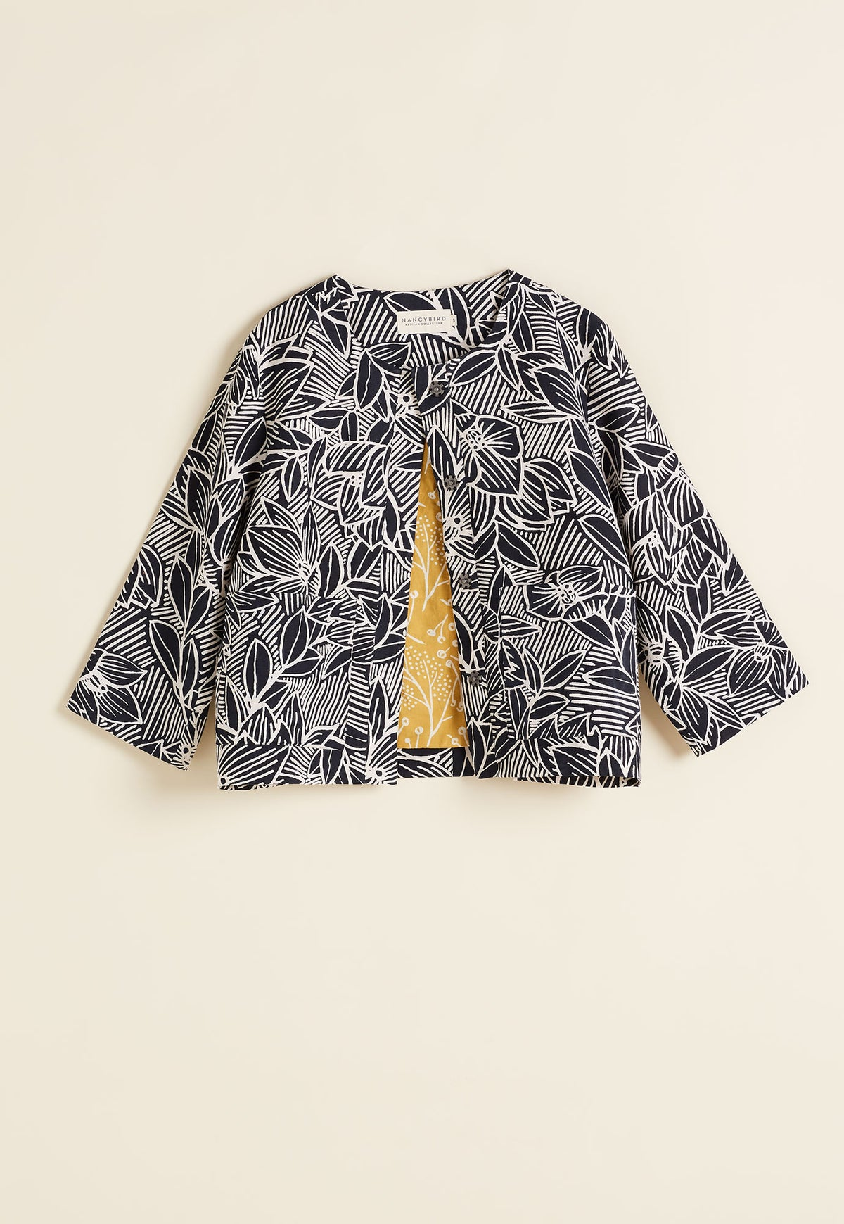 Cropped Jacket - Night Rose