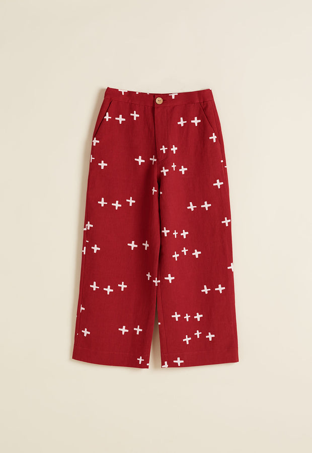 Cropped Pant - Crosses