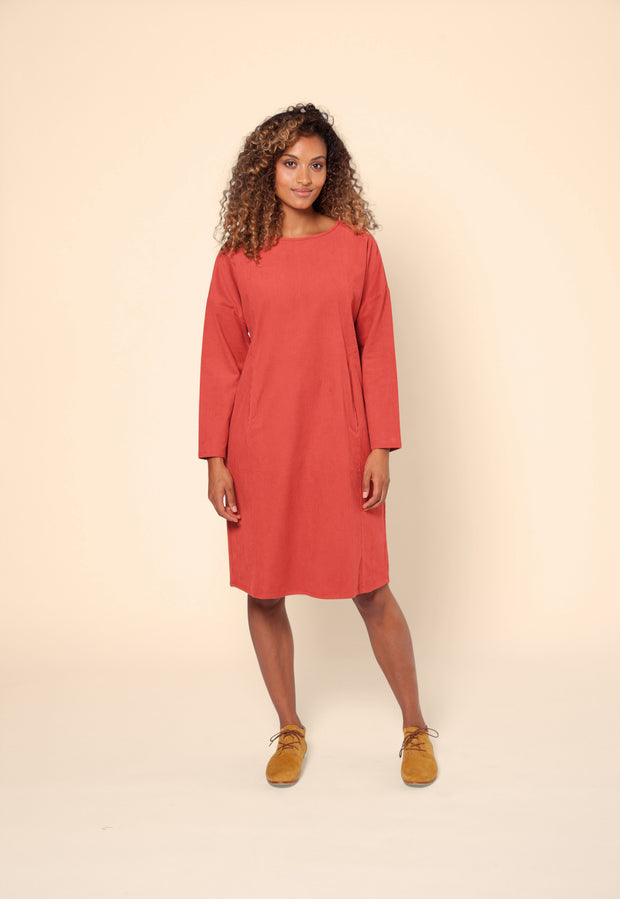 Carlisle Dress - Scarlet Corduroy