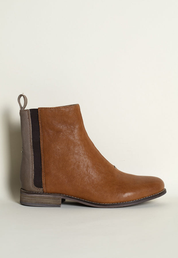 Chelsea Boots - Terracotta / Grey