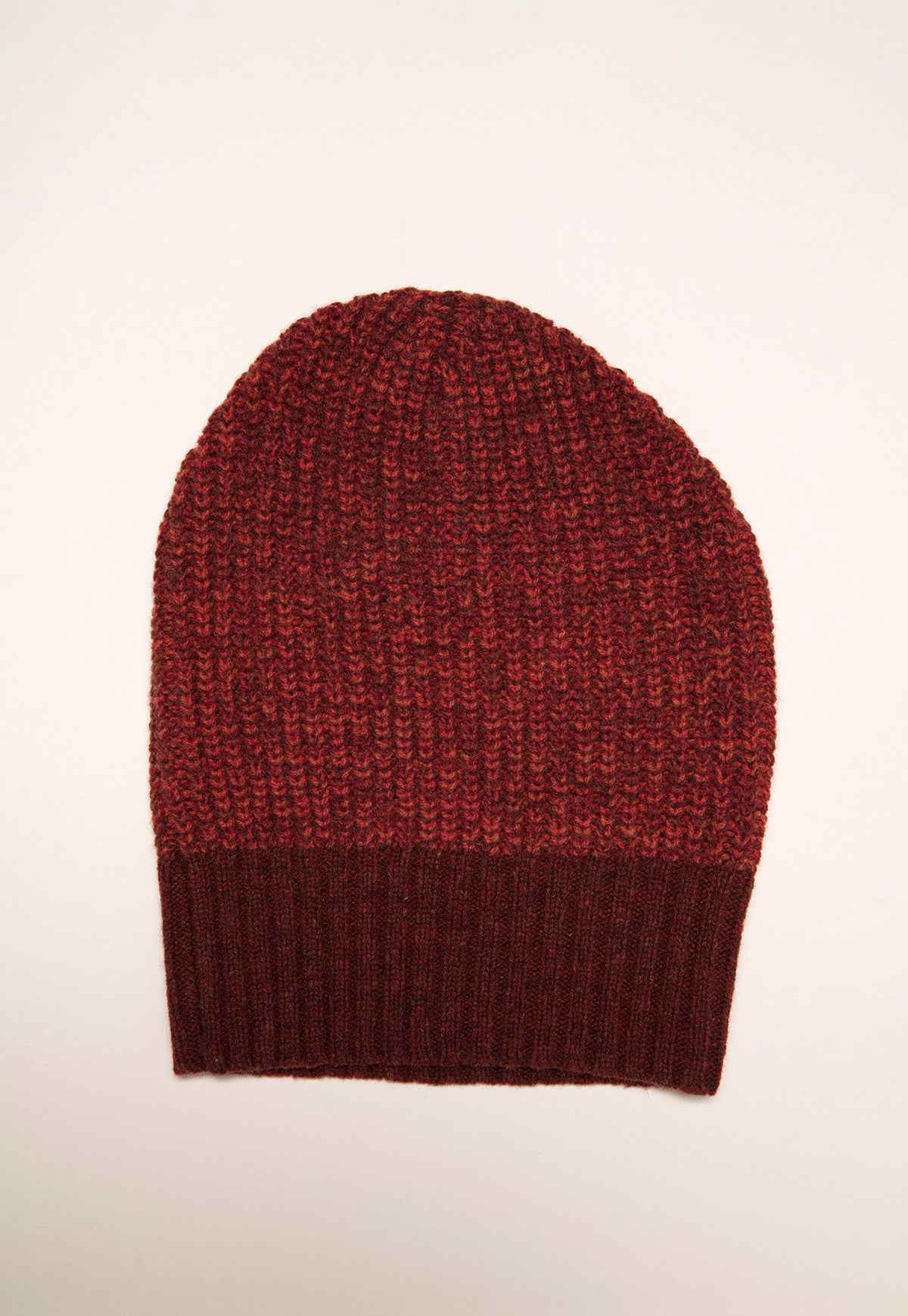 Rib Knit Beanie - Maple