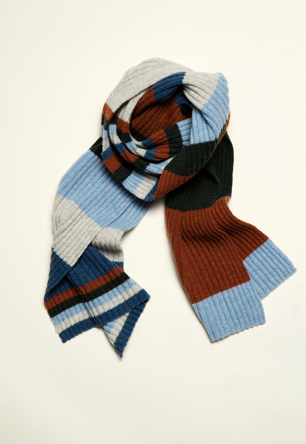 Chunky Rib Scarf - Wave Rock